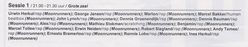 The Moonrunners Crew 1986