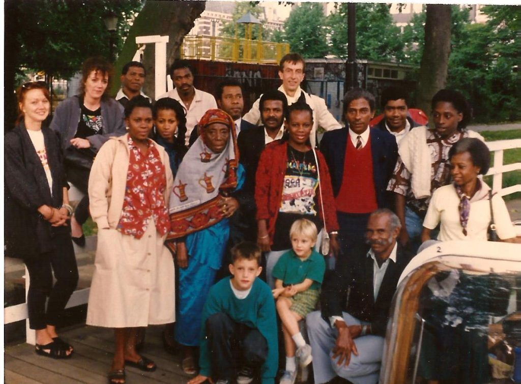 Frans Goossens en José Theelen (Melkweg) met Kariakoo Arts Ensemble Of Zanzibar (1990)