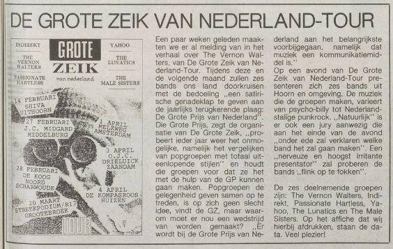 Krantenartikel over De Grote Zeik van Nederland