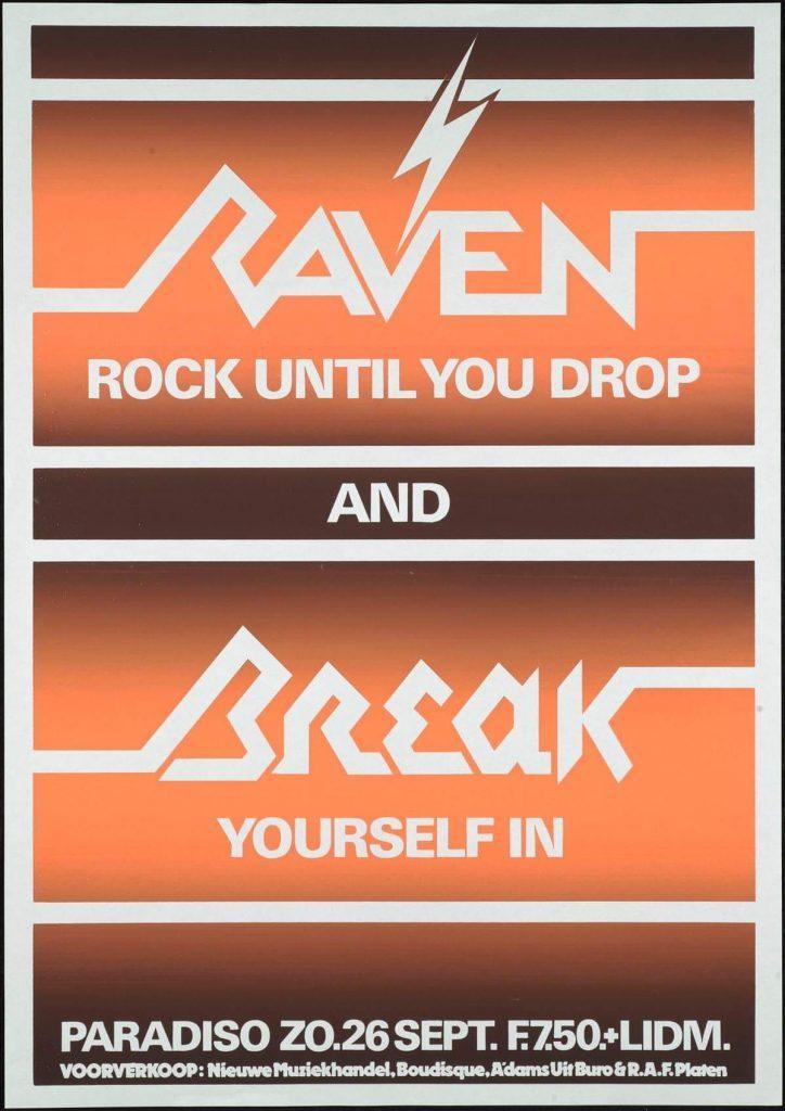 Poster van Paradiso optreden met Raven