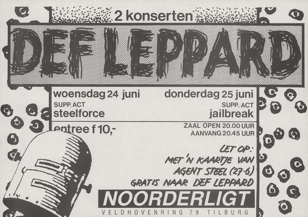 Jailbreak voorprogramma Def Leppard